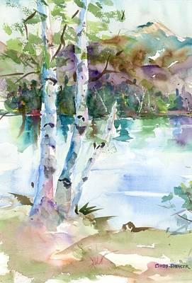 Mt Chocorua Painting - Birches At Chocorua by Cindy Spencer