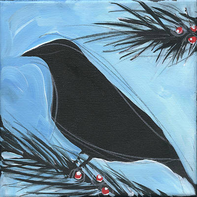 Painting - Bird And Berries #15 by Tim Nyberg