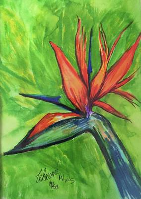 Painting - 1 Bird Of Paradise by Charme Curtin