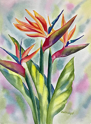 Painting - Bird Of Paradise Flowers by Hilda Vandergriff