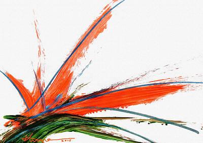 Strelitzia Painting - Bird Of Paradise by Kume Bryant