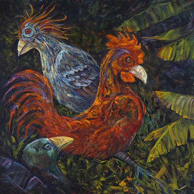 Painting - Birditudes by Claudia Goodell