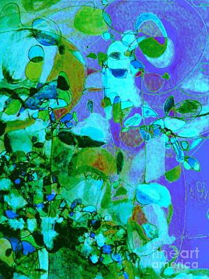 Digital Art - Birds And Flowers by Nancy Kane Chapman