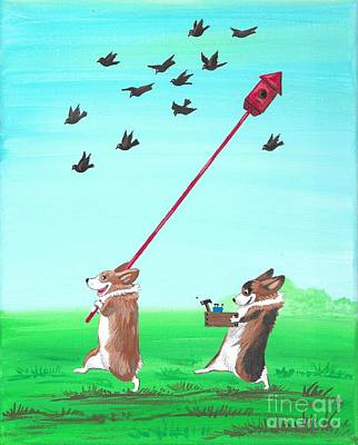 Painting - Birds Are Back by Margaryta Yermolayeva