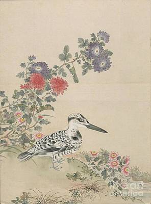 Pigeon Painting - Birds Of Japan In The 19th Century by Celestial Images