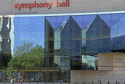 Photograph - Birmingham Symphony Hall Reflections by Tony Murtagh