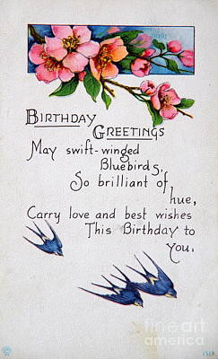 Photograph - Birthday Postcard by Kevin Bohner