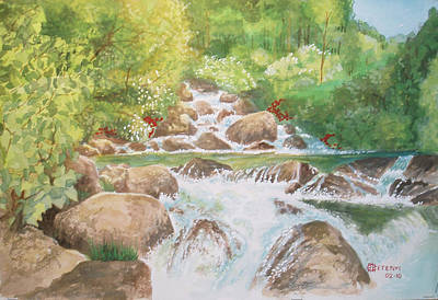 Bishop Creek South Fork Art Print by Charles Hetenyi