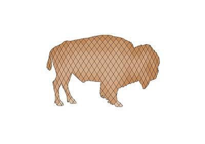 Bison Digital Art - Bison by Steph J Marten