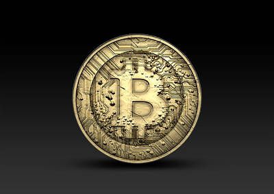 Clipping Digital Art - Bitcoin Physical by Allan Swart