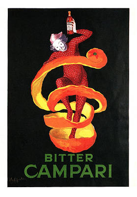Mixed Media - Bitter Campari - Vintage Beer Advertising Poster by Studio Grafiikka