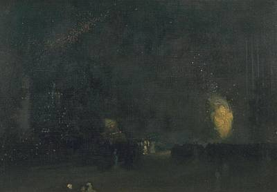 Whistler Painting - Black And Gold by James Abbott