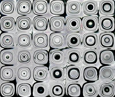 Black And White Circles I Art Print by Patty Vicknair