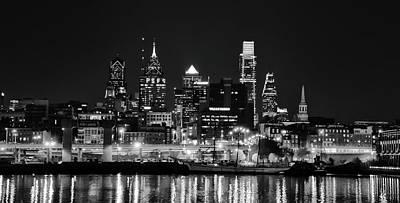 Photograph - Black And White Cityscape - Philadelphia by Bill Cannon