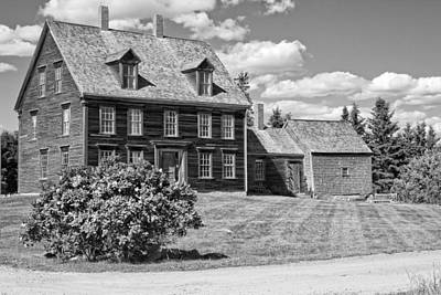 Photograph - Black And White Photograph Of Olsen House Cushing Maine by Keith Webber Jr