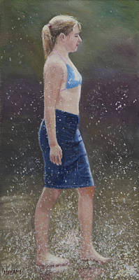 Painting - Black Bikini Top by Masami Iida