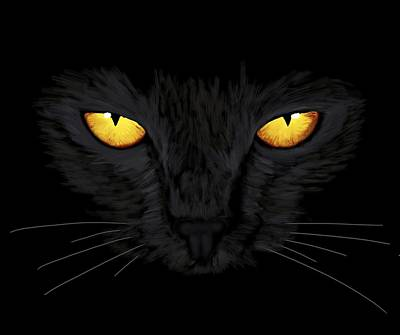 Painting - Superstitious Cat by Anastasiya Malakhova