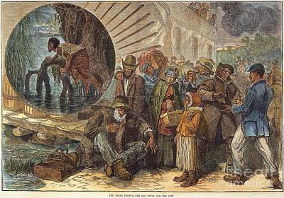 Black Exodus, 1880 Print by Granger