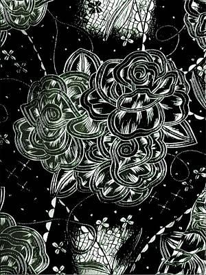 Digital Art Digital Art - Black Flower by Theresia Kwee