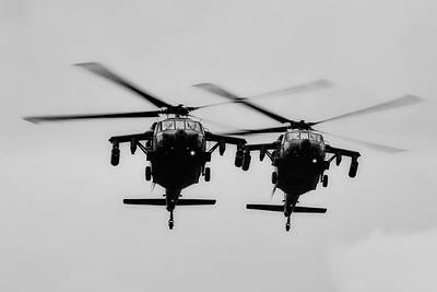 Photograph - Black Hawks On Patrol by Military Material