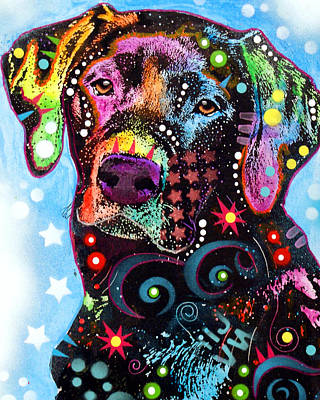 Colorful Dog Wall Art - Painting - Black Lab by Dean Russo Art