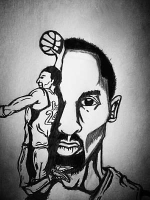 Kobe Drawing - Black Mamba by Ryan Williams