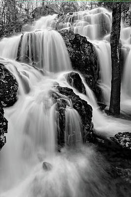 Photograph - Black Mountain Cascades by Robert Charity