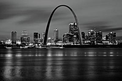 Photograph - Black Night In St Louis by Frozen in Time Fine Art Photography
