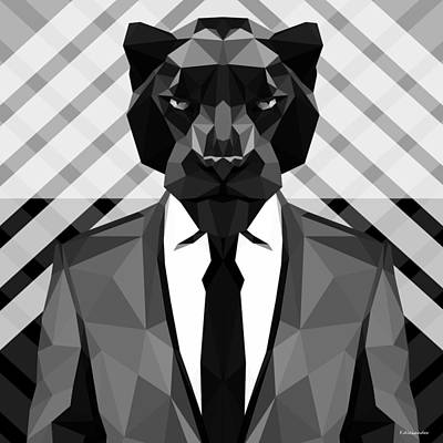Panther Digital Art - Black Panther by Gallini Design