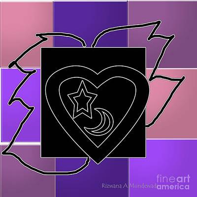 Digital Art - Black Wings by Rizwana Mundewadi