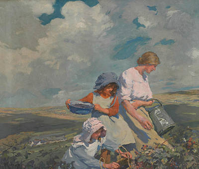 Painting - Blackberry Gathering by Elizabeth Forbes