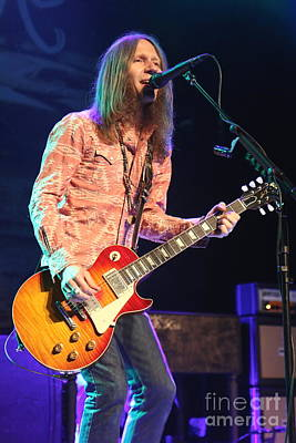 Photograph - Blackberry Smoke Charlie Starr by Concert Photos
