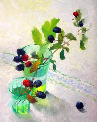 Berries Still Life Painting - Blackberry Summer by Gayle Levee