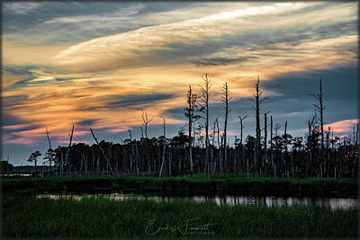Photograph - Blackwater Sunset by Erika Fawcett