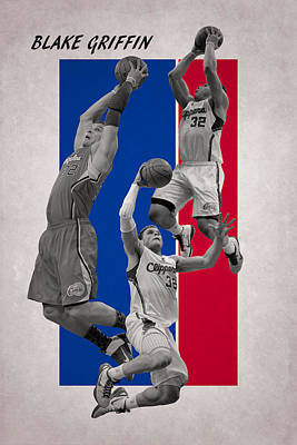 Blake Griffin Los Angeles Clippers Art Print by Joe Hamilton