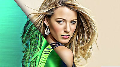 Model Mixed Media - Blake Lively Collection by Marvin Blaine