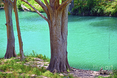 Photograph - Blanco River Texas by Ray Shrewsberry