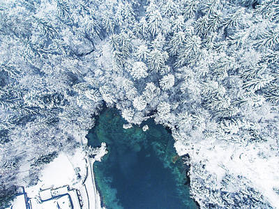 Photograph - Blausee by Chris Thodd