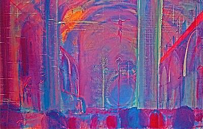 Blazing Church Art Print by Contemporary Luxury Fine Art