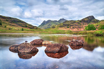 Langdale Pikes Photograph - Blea Tarn - Lake District by Joana Kruse
