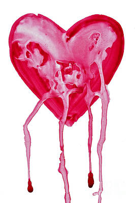 Crying Painting - Bleeding Heart by Michal Boubin