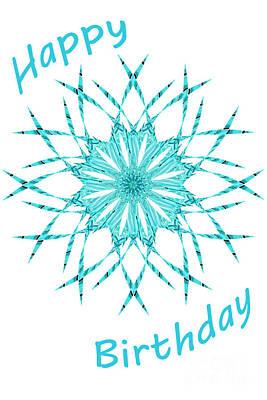 Digital Art - Blinds 2 - Happy Birthday Card by Wendy Wilton