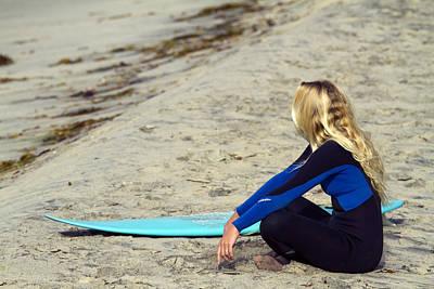 Photograph - Blonde California Surfer Girl by Waterdancer
