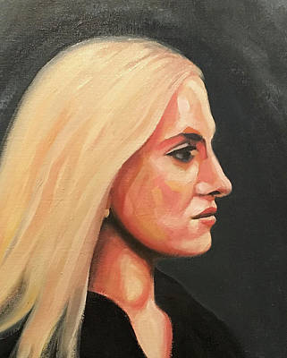 Painting - Blonde Profile by Seamas Culligan