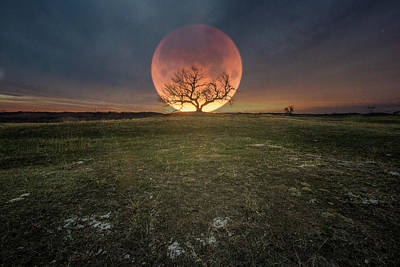 Photograph - Blood Moon  by Aaron J Groen