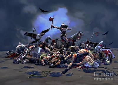 Bloody Battle Drawing - 1 Bloody Battle by Vicente Fernandez