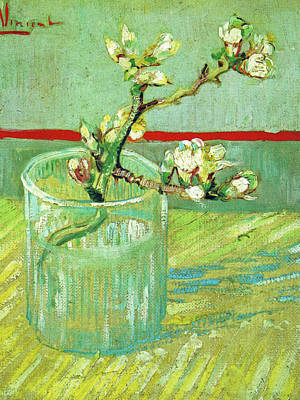 Painting - Blossoming Almond Branch In A Glass by Vincent van Gogh