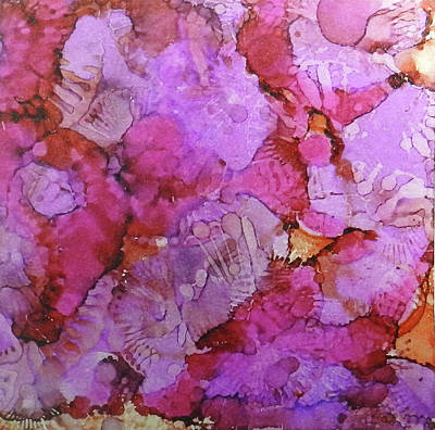 Painting - Blossoms Ink #1 by Sarajane Helm