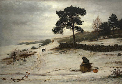 Painting - Blow Blow Thou Winter Wind by John Everett Millais