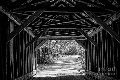 Photograph - Blow Me Down Covered Bridge Cornish New Hampshire by Edward Fielding